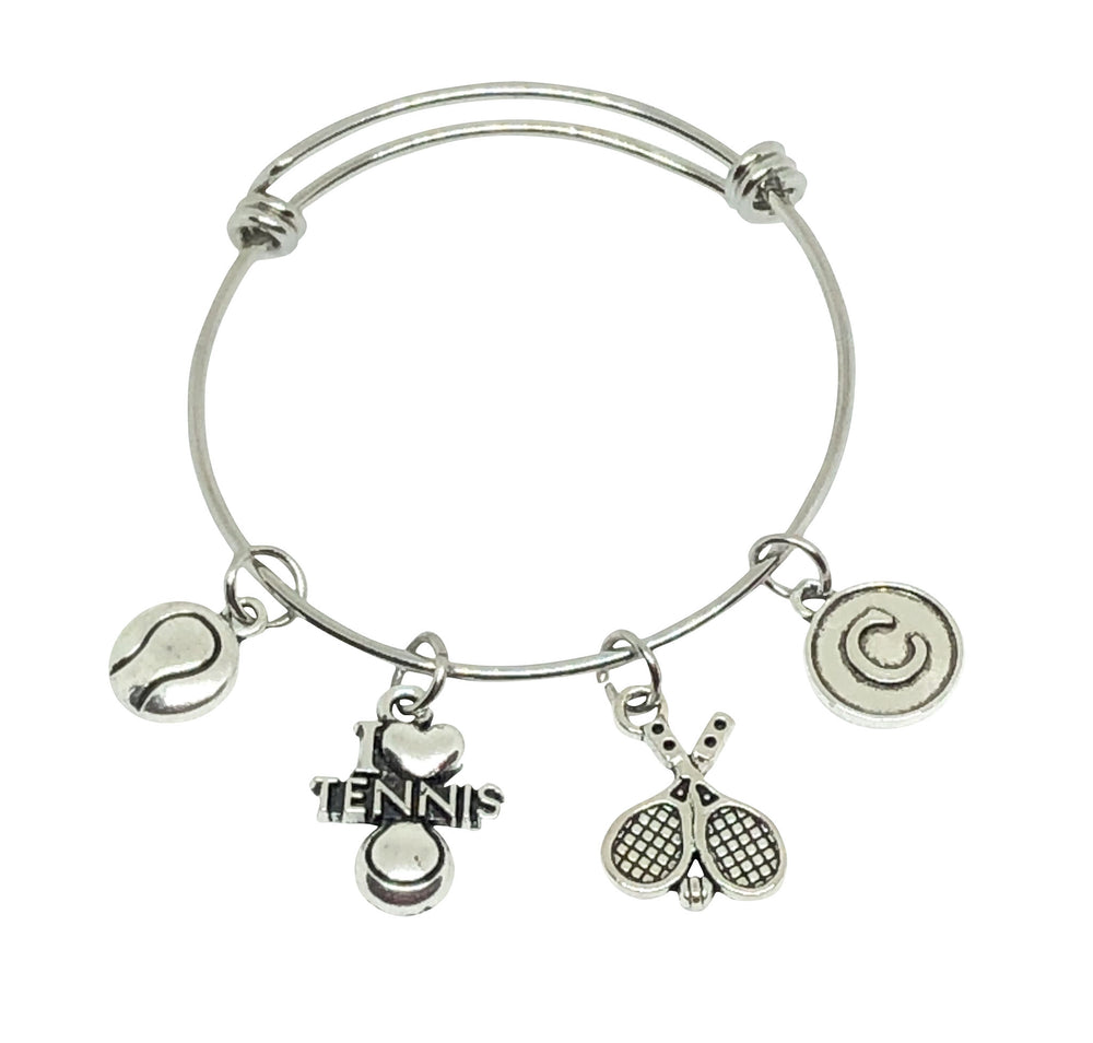 Tennis Personalized Charm Bracelet