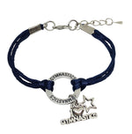 Gymnastics Charm Bracelet / I Love Gymnastics - 6 COLORS - Cheer and Dance On Demand