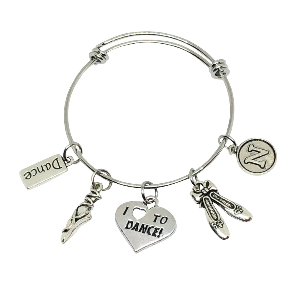 Dance Personalized Charm Bracelet - Ballerina / Ballet Charm Bracelet - Cheer and Dance On Demand