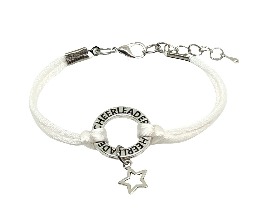 Star Cheerleading Bracelet - 6 COLORS White - Cheer and Dance On Demand