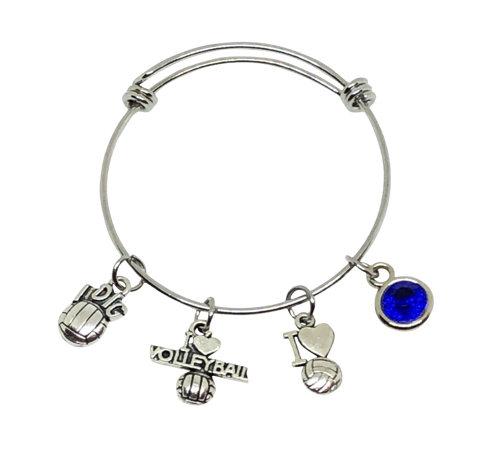 Volleyball Charm Bracelet - I Love Volleyball