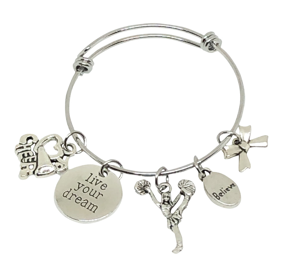 Cheerleading Charm Bracelet - Live Your Dream