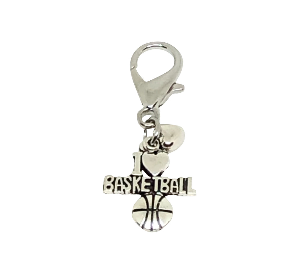Basketball Zipper Pull - Basketball Accessories - Cheer and Dance On Demand