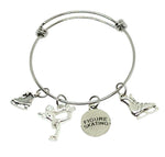 Ice Skating Charm Bracelet - Figure Skating - Cheer and Dance On Demand