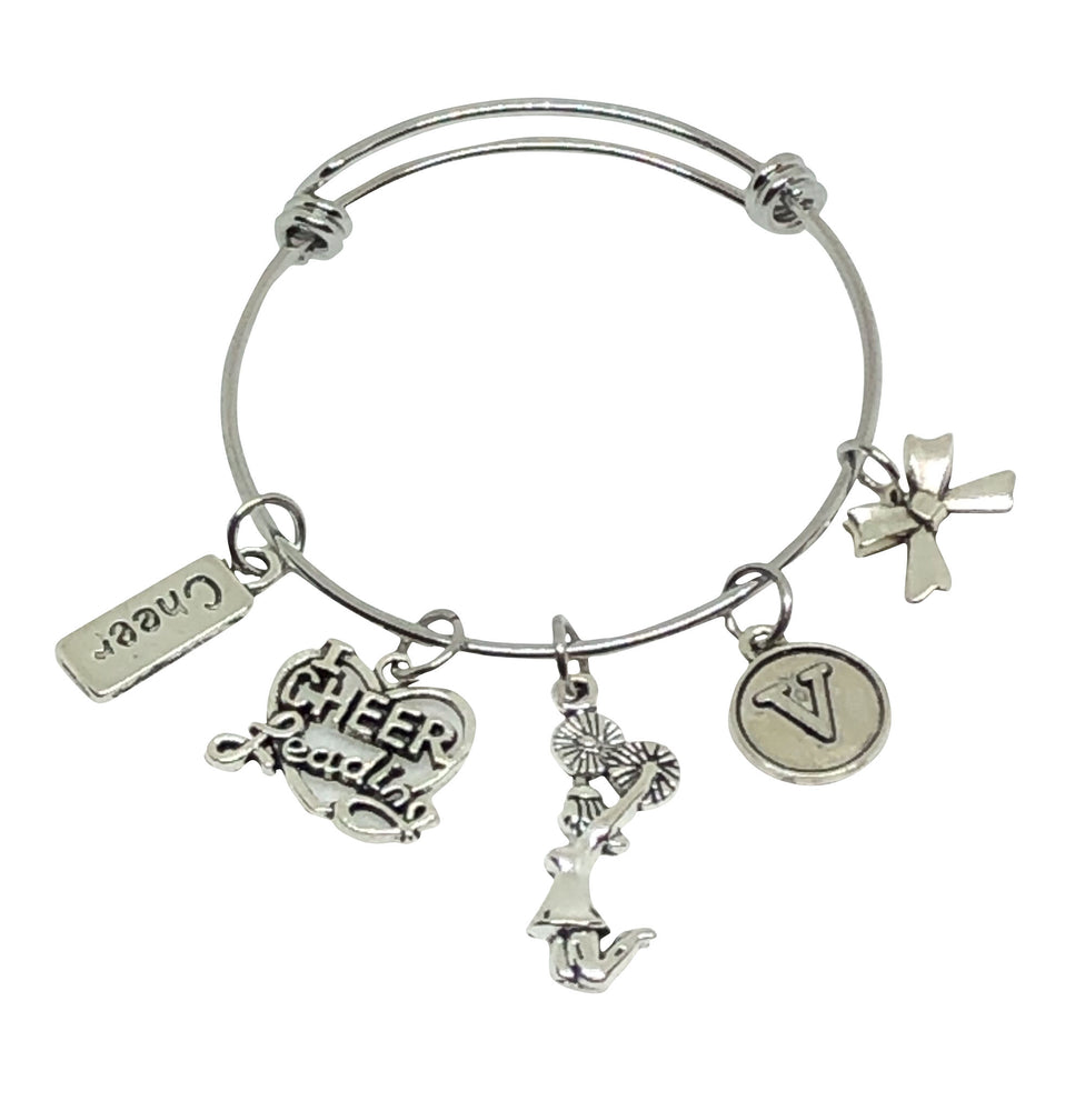 Cheerleading Personalized Charm Bracelet - I Love Cheerleading - Cheer and Dance On Demand