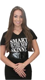 Smart is the NEW Skinny Empowerment T-shirt - Black