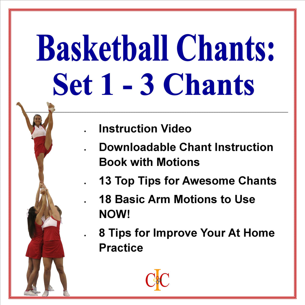 Cheerleading Chants -Set of 3 Basketball Chants - Set 1 - Cheer and Dance On Demand