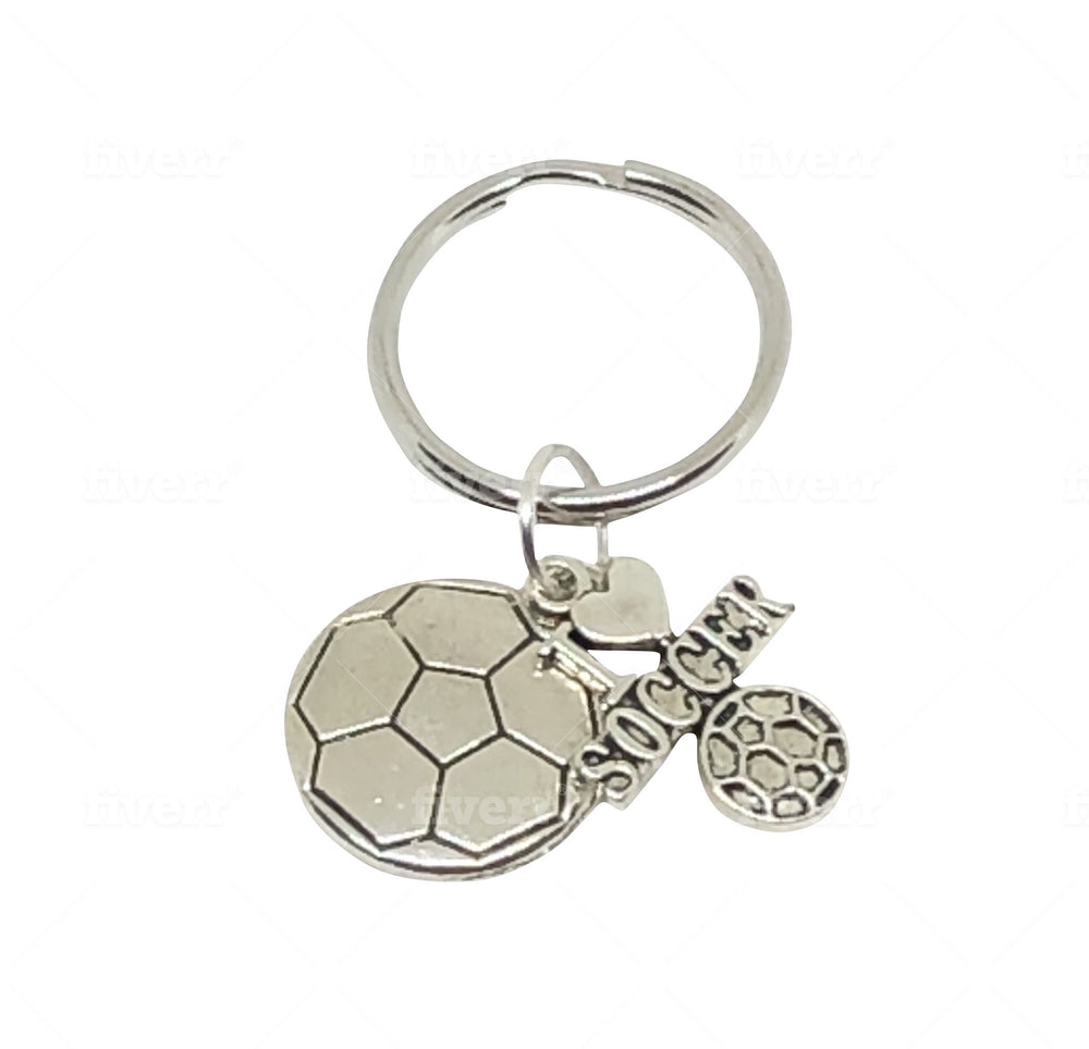 Soccer Keychain - Soccer Accessories - Cheer and Dance On Demand
