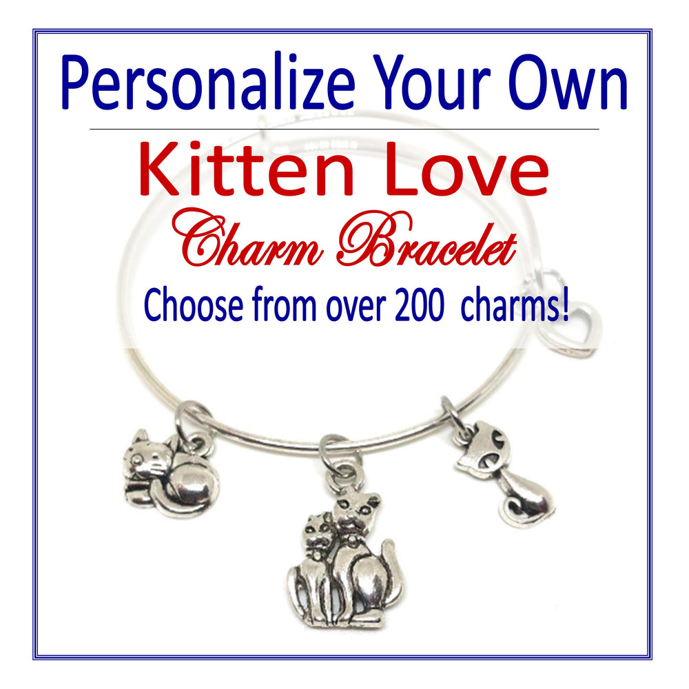 Create Your Own Kitten Love Charm Bracelet - Cheer and Dance On Demand