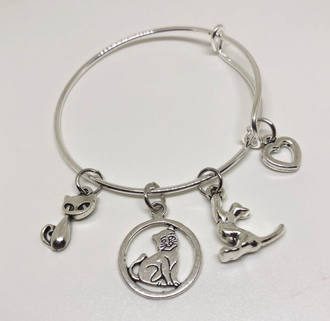 Kitten Charm Bracelet - Kitten Playing