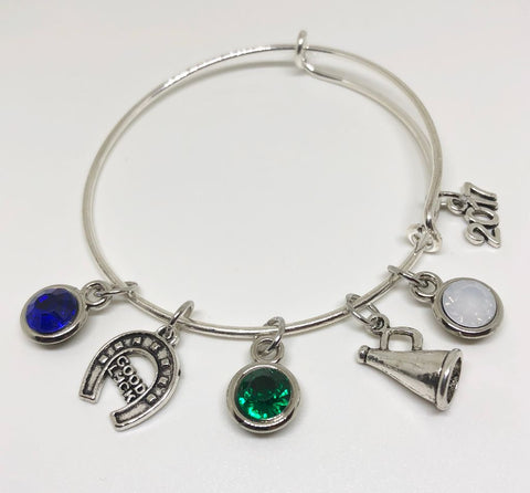 Coral Springs High - School Charm Bracelet - CHEERLEADER