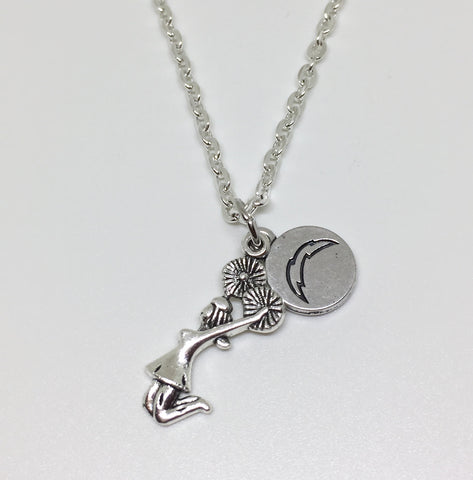 Coral Springs Chargers Cheerleading Charm Necklace