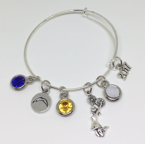 Coral Springs Chargers Cheerleading Charm Bracelet