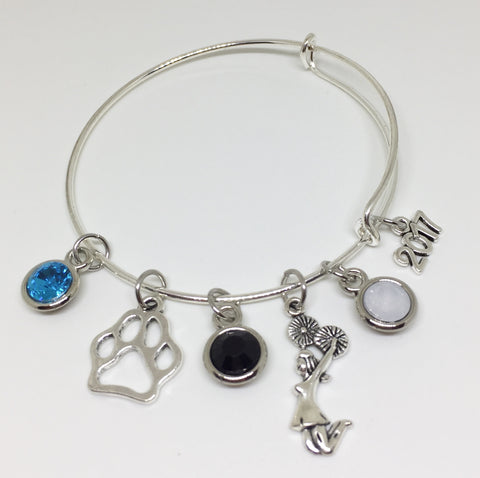 Coral Glades High School Charm Bracelet - Cheerleading