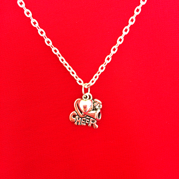 Cheerleading Charm Necklace SET of 3 Silver