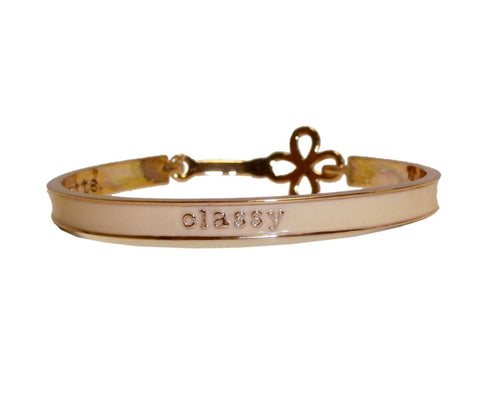 Classy Empowerment Motivational Brangle Bracelet