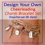 Design Your Own Cheerleading Charm Bracelet SET - Cheer and Dance On Demand