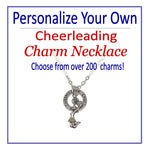 Create Your Own Cheerleading Charm Necklace Silver - Cheer and Dance On Demand