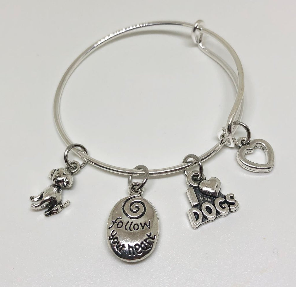 Dog Charm Bracelet - I Love Dogs