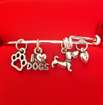 Dog Charm Bracelet - Puppy - Cheerleading On Demand by America's Leaders