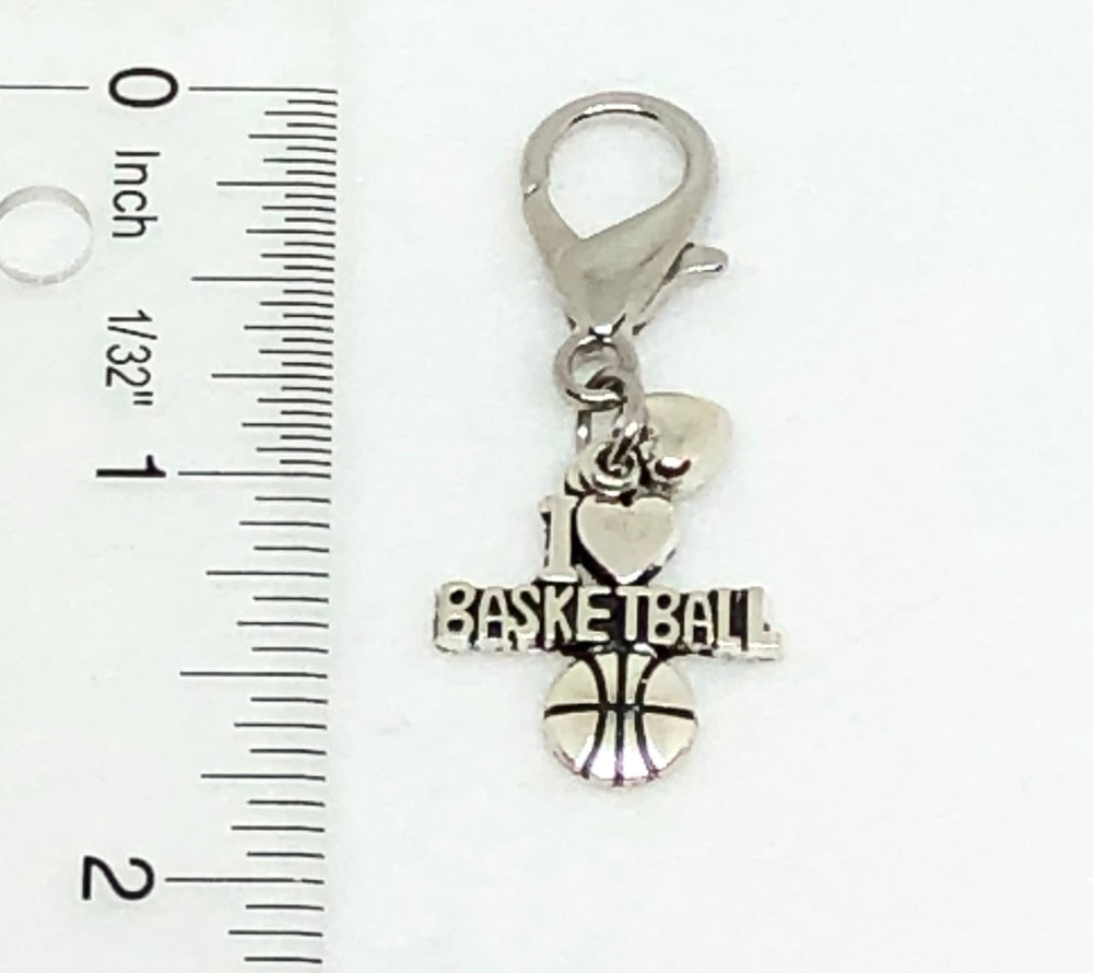 Basketball Zipper Pull - Basketball Accessories - Cheerleading On Demand by America's Leaders