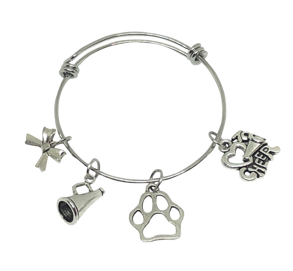 Cheerleading Mascot Charm Bracelet - Love to Cheer - Cheer and Dance On Demand