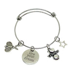 Tennis Charm Bracelet - Live Your Dream - Cheer and Dance On Demand