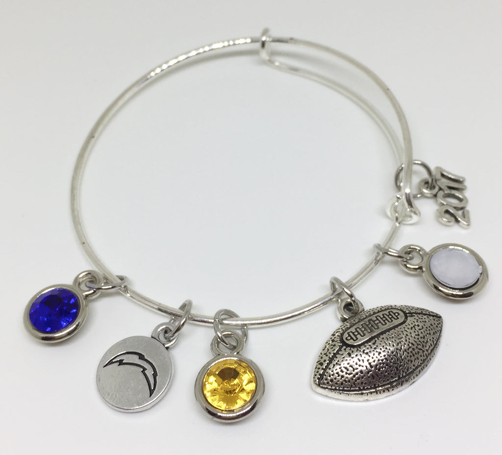 Coral Springs Chargers FOOTBALL Charm Bracelet