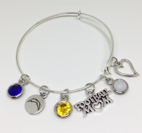 Coral Springs Chargers FOOTBALL MOM Charm Bracelet