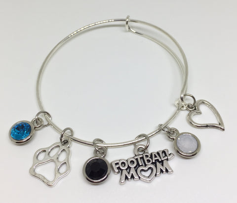 Coral Glades High School Charm Bracelet - Football Mom