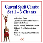 Cheerleading Chants -Set of 3 General Chants - Set 1 - Cheer and Dance On Demand