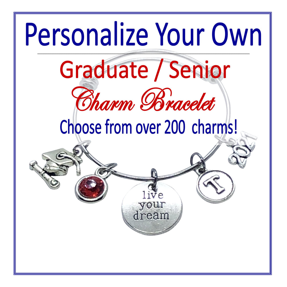 Create Your Own Graduate / Senior Charm Bracelet - Cheer and Dance On Demand