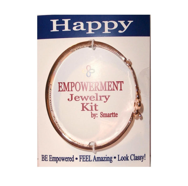 Empowerment Bracelet Set: Happy,  Bracelet, Confidence Bangle Bracelets