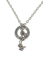 Cheerleading Double Charm Necklace Silver - Cheer and Dance On Demand