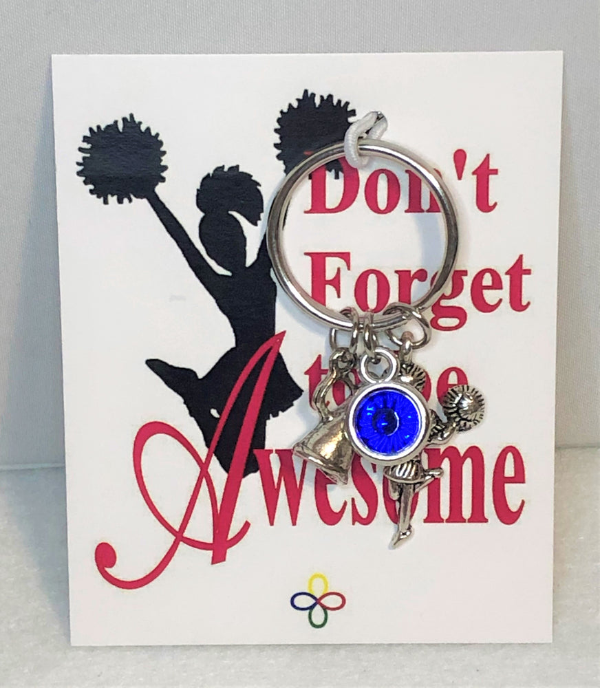 Cheerleading Key Chain Personalized with 2 Colors, Cheerleading Accessories - Cheer and Dance On Demand