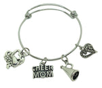 Cheer MOM Charm Bracelet - Cheer and Dance On Demand