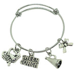 Cheerleading Coach Charm Bracelet
