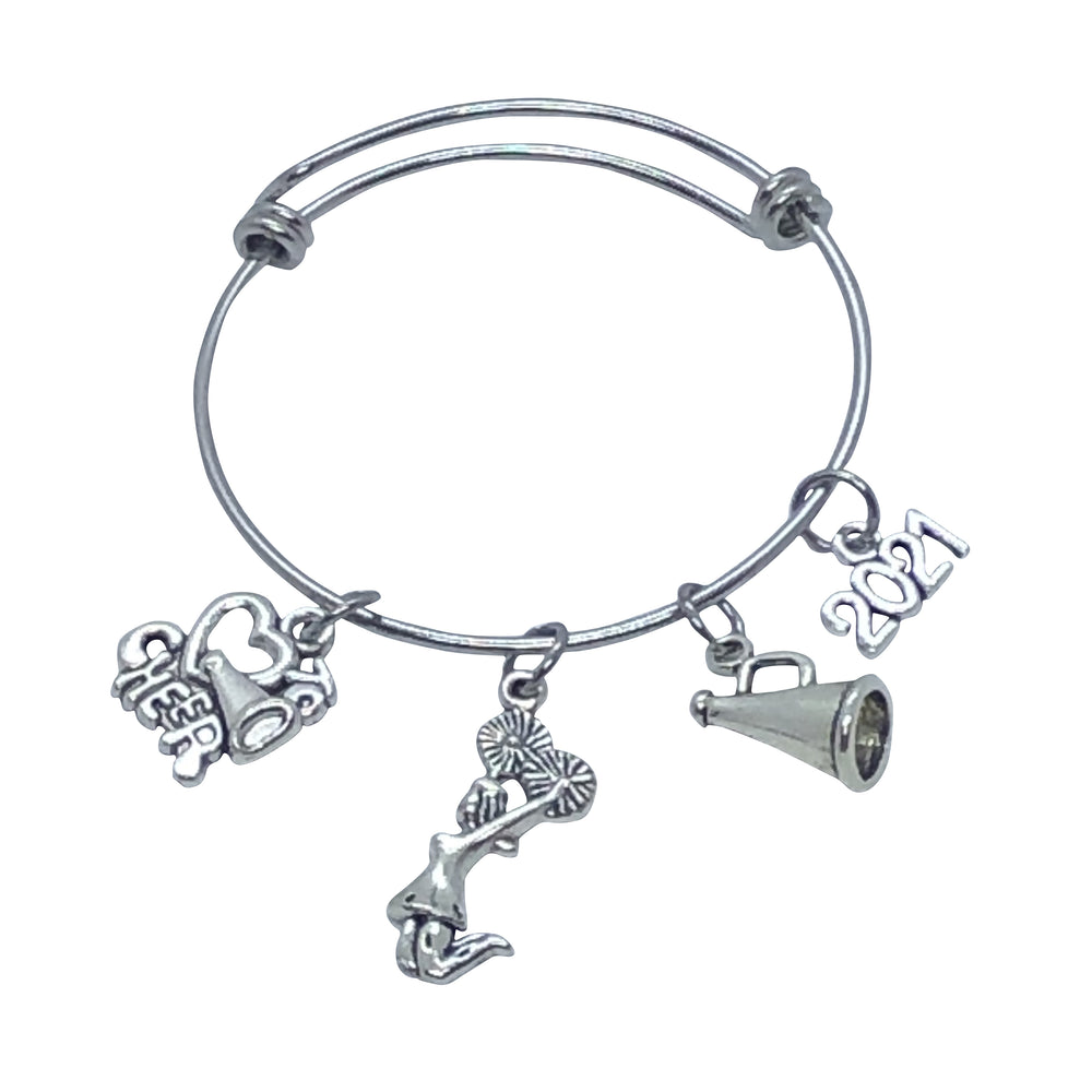 2021 LIMITED EDITION Cheerleading Bangle Charm Bracelet - Cheer and Dance On Demand