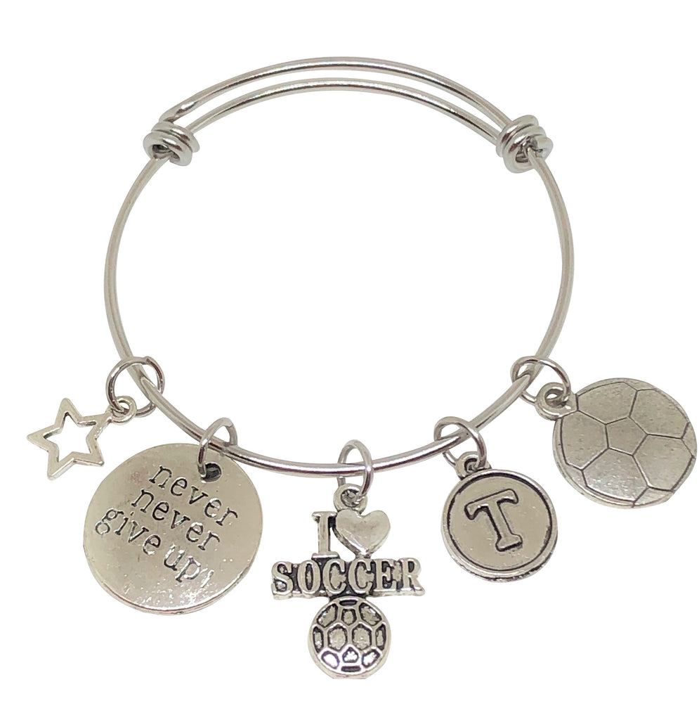 Soccer Personalized Charm Bracelet - Live Your Dream