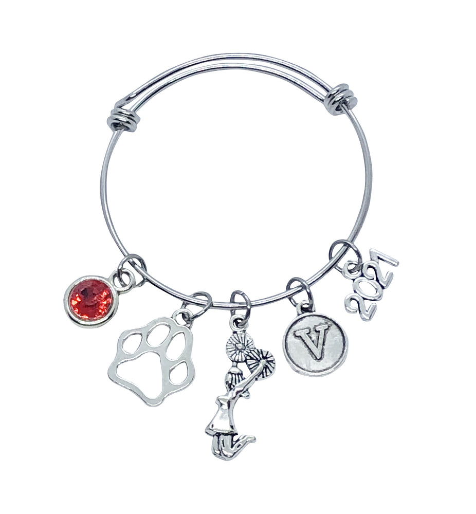 Custom Mascot Cheerleading Charm Bracelet - Cheer and Dance On Demand