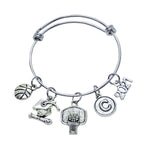 Basketball Graduate Charm Bracelet 2021 - Cheer and Dance On Demand