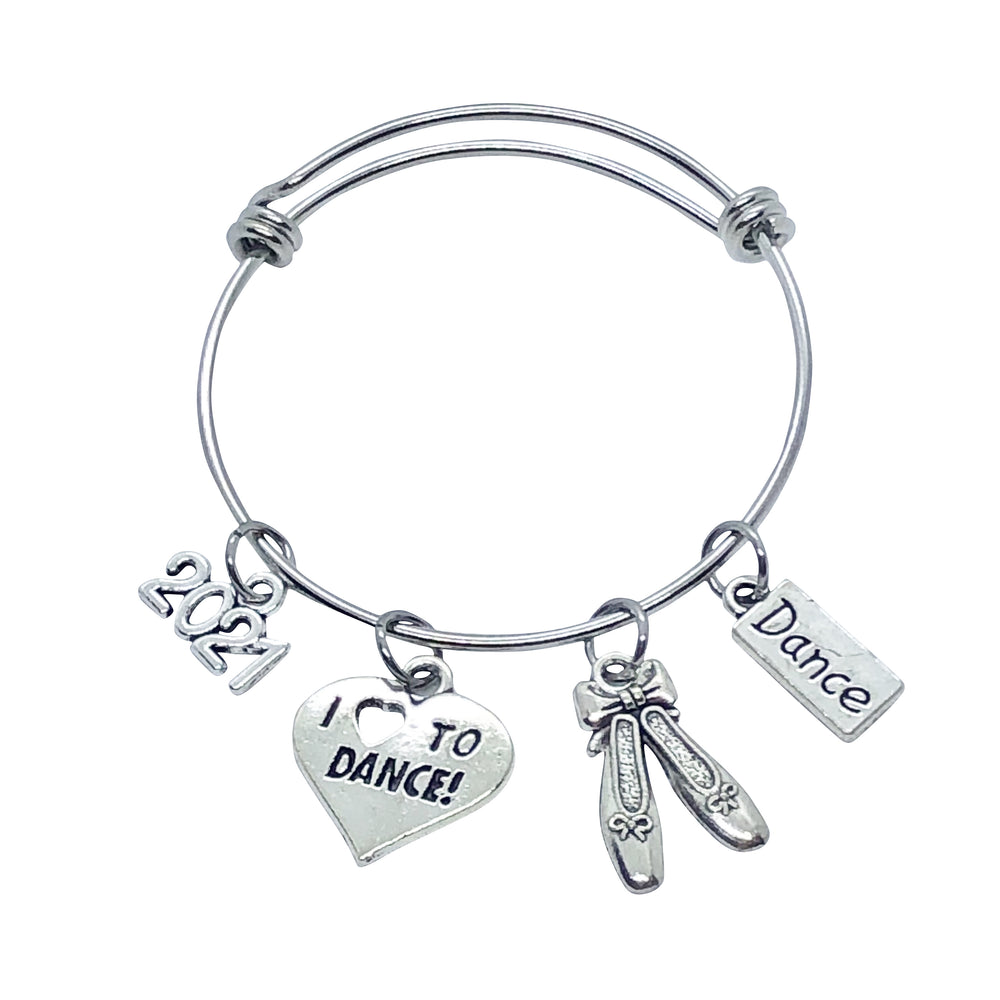 2021 Dance Charm Bracelet - Love to Dance - Cheer and Dance On Demand