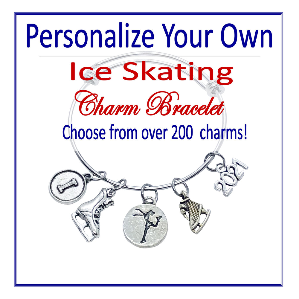 Create Your Own Ice Skating Charm Bracelet