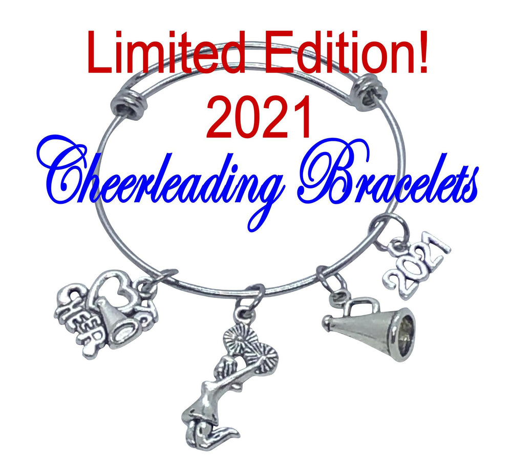 2021 LIMITED EDITION Cheerleading Bangle Charm Bracelet