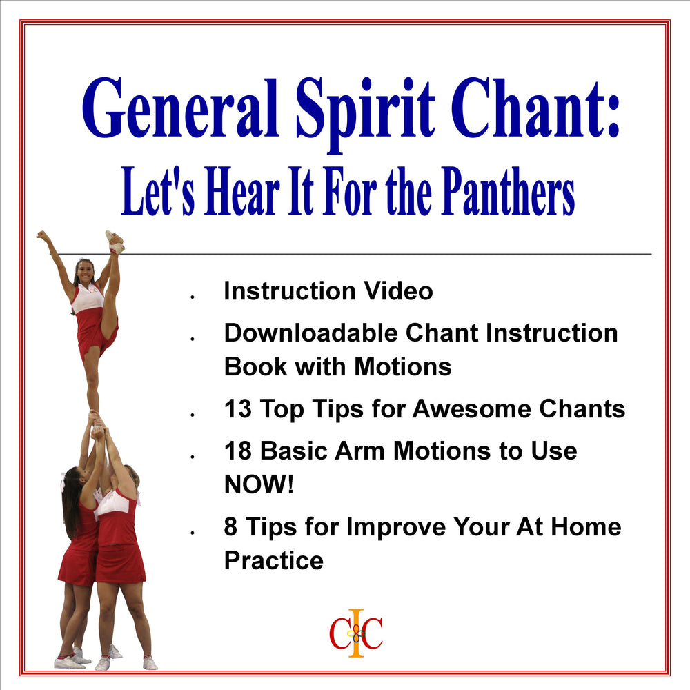 Cheerleading Chant - Let's Hear It For The Panthers - General Chant - Cheer and Dance On Demand