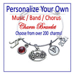Create Your Own Music Charm Bracelet - Cheer and Dance On Demand