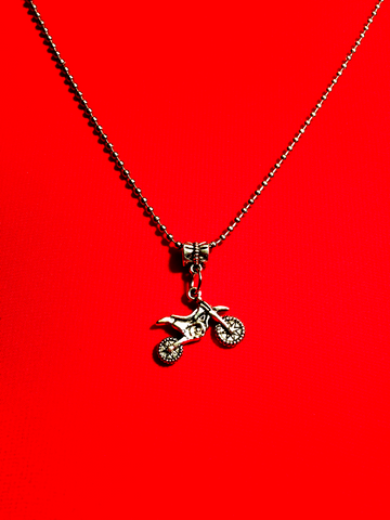Dirt Bike Motocross Motorcycle Charm Necklace