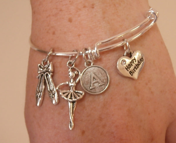 Personalized Dance Charm Bracelet and Birthday Gift