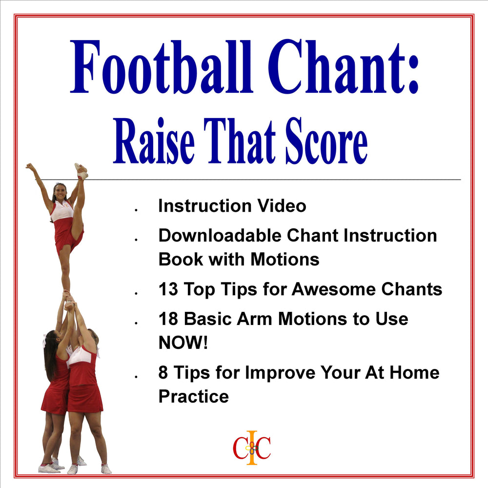 Cheerleading Chant - Raise That Score - Football Chant - Cheer and Dance On Demand