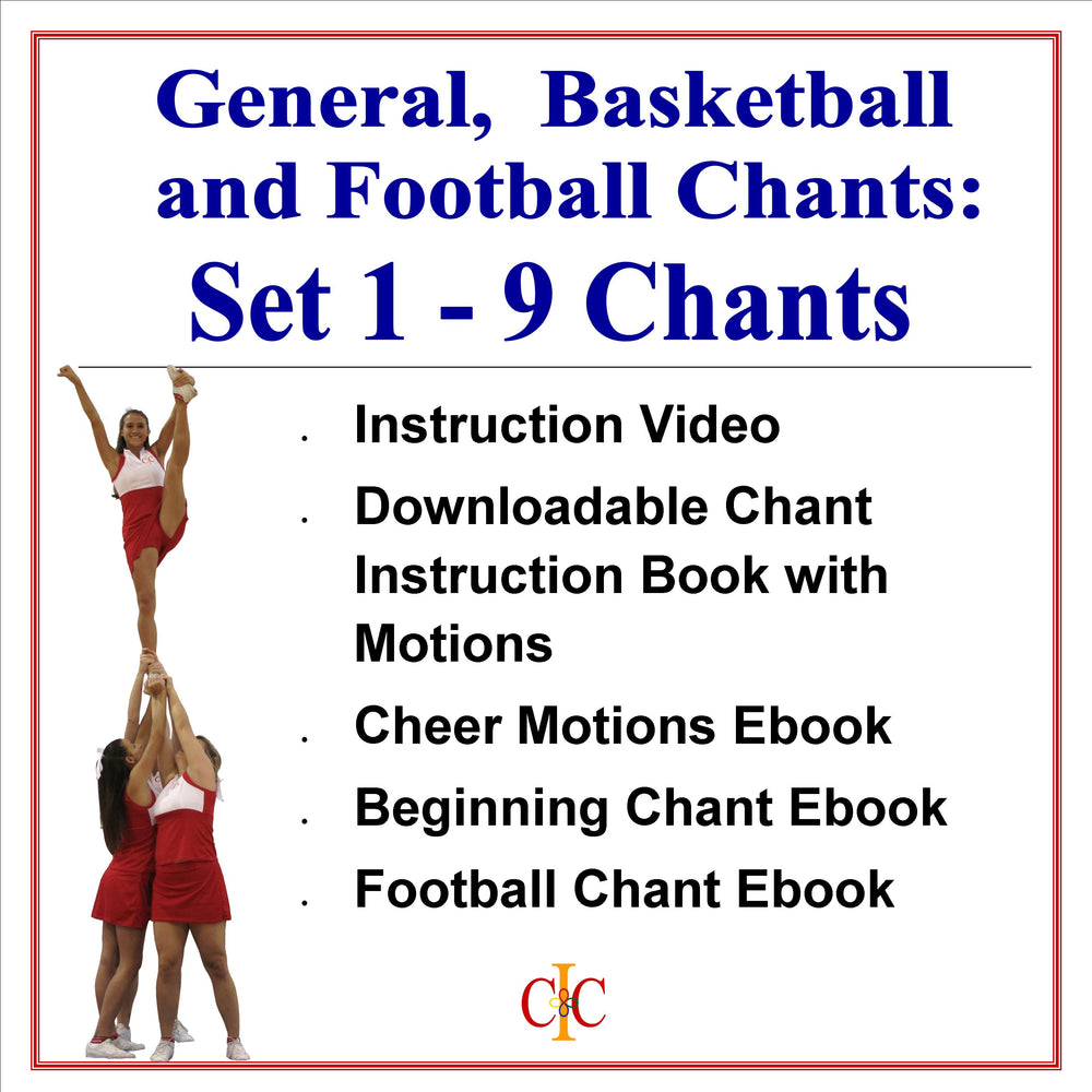 Ultimate Cheerleading 58 Chant Bundle Set 1 - 9 Video Chants PLUS Cheerleading Mastery Series 3 Book Set - Cheer and Dance On Demand